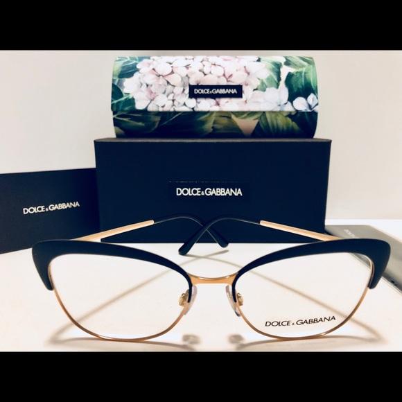 4b4ff101c0fc Dolce   Gabbana Eyeglasses Matte Black Rose Gold